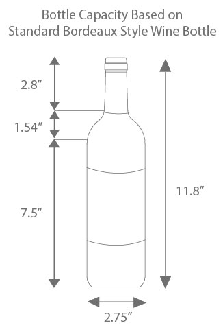 Wine Refrigerator Reviews >> How to Find the Right Bottle Capacity in a Wine Refrigerator